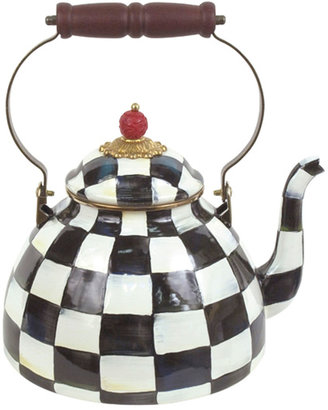 Mackenzie Childs Courtly Check Two-Quart Tea Kettle