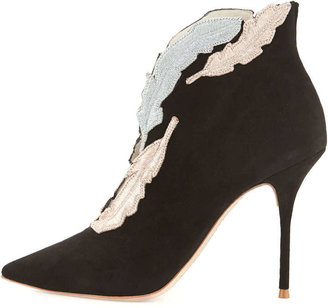 Webster Sophia Tia Embroidered Suede Bootie
