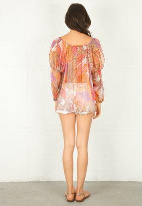 Haute Hippie Lace Peasant Blouse -
