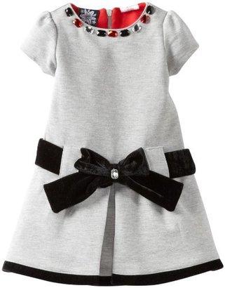 So La Vita Girls 2-6x Zipper Back Ponti Dress