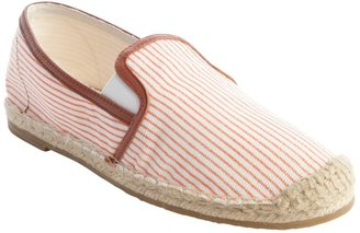 Joie coral and white canvas striped 'Adrien' loafers