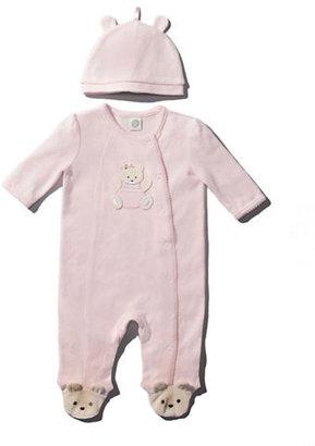 Little Me Newborn Girls 0-9 Months Bear Footies With Hat - Smart Value
