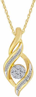 FINE JEWELRY diamond blossom 1/5 CT. T.W. Diamond Cluster Pendant Necklace