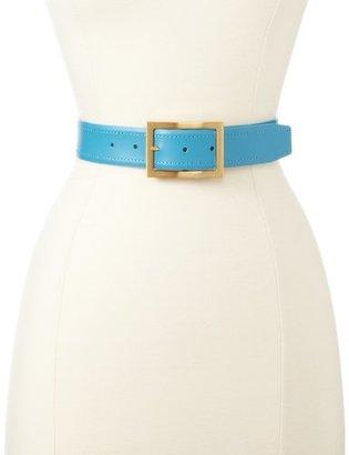 Vince Camuto Women's Basic Blue Wide Leather Belt
