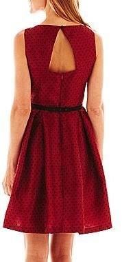 JCPenney Danny & Nicole® Pleated Polka Dot Dress