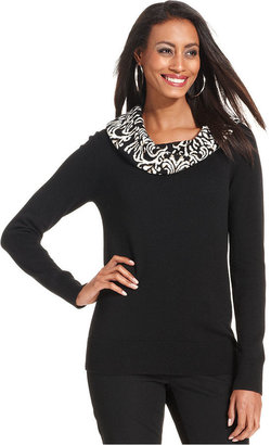 Charter Club Long-Sleeve Cowl-Neck Sweater