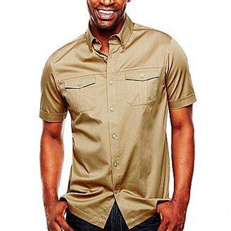 Claiborne Solid Stretch Poplin Shirt