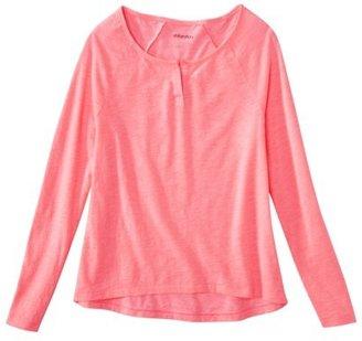 Xhilaration Juniors Long Sleeve Sleep Tee - Assorted Colors