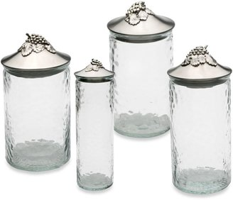 Arthur Court Grape 1 3/4-Ounce Glass Canister with Lid in Clear/Silver