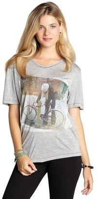 Blondes Make Better T-Shirts heather jersey 'Bike' v-neck short sleeve t-shirt