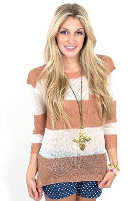 Catalina Striped Knit in Tan