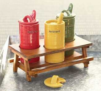 Pottery Barn Picnic Table Condiment Set