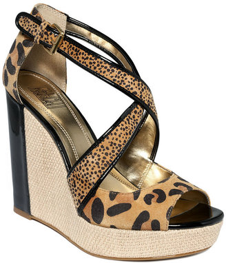 FALCHI by Falchi Shoes, Bethany Platform Wedge Sandals