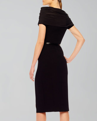 Michael Kors High-Slit Crepe Dress