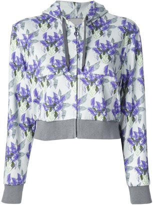 Cacharel floral print cropped hoody