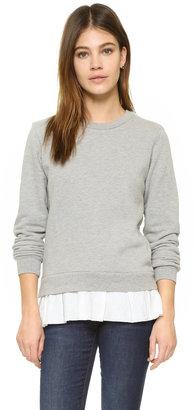Clu Clu Too Ruffled Sweatshirt $139 thestylecure.com