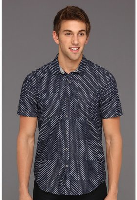 Calvin Klein Jeans Denim Polka Dot S/S Shirt (Dark Wash) - Apparel