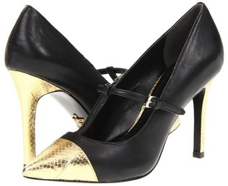 Pour La Victoire Carmendy (Black/Gold Nappa Snake) - Footwear