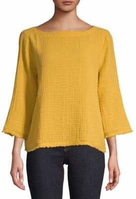 Eileen Fisher Textured Cotton Top