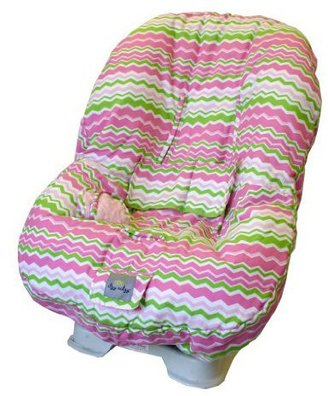 Little Miss Itzy Ritzy Toddler Car Seat Cover Zig Zag