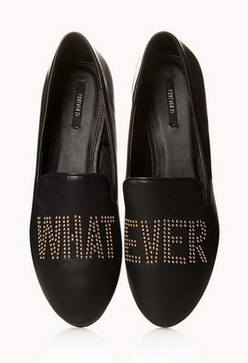 Forever 21 Whatever Stud Loafers