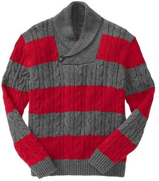 Gap Striped shawl pullover