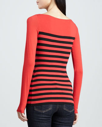 Bailey 44 Text Me Striped Jersey Top