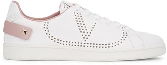 Valentino Backnet White Perforated Leather Sneakers