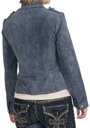 Scully Military Style Boar Suede Jacket (For Women)