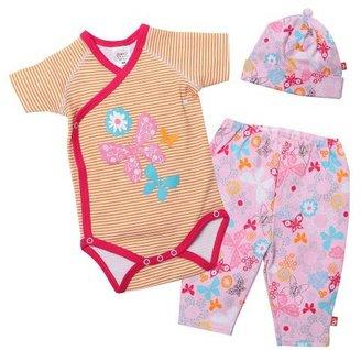 Zutano Baby-Girls Summer Dream Short Sleeve Wrap Body, Hat and Legging Set