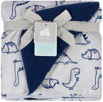 Just Born Blue Velboa Blanket