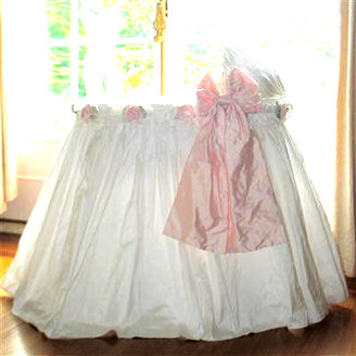 Lulla Smith Ruffles and Bows and Roses Bassinet