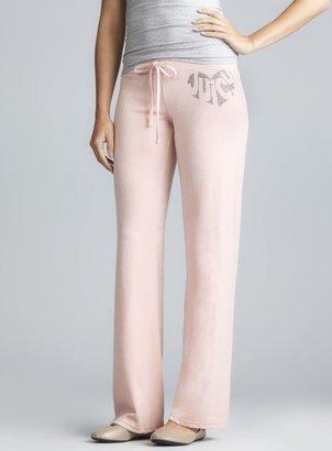 Juicy Couture Pink Sparkle Logo Drawstring Pant