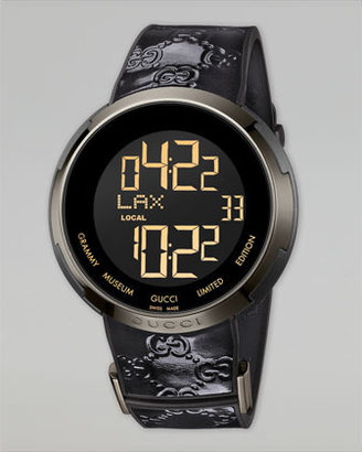 Gucci I Digital Watch, Black