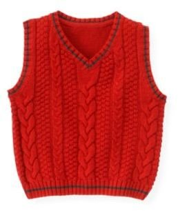 Janie and Jack Cable Sweater Vest