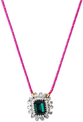 Shourouk Small Emerald Necklace