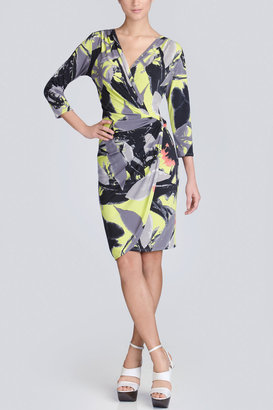 Josie Natori Hardin Drape Dress