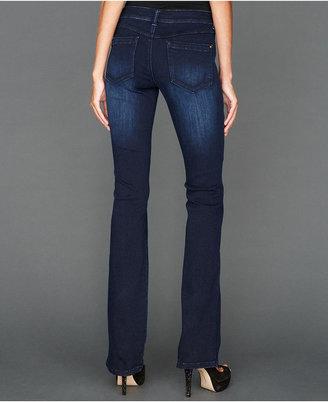 INC International Concepts Bootcut Patch-Pocket Jeans, Dark Wash