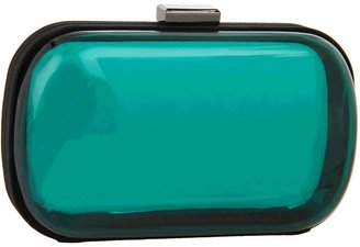 BCBGeneration Morgan Lucite Minaudiere (Teal) - Bags and Luggage
