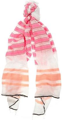 Lemlem Ishi striped cotton-blend voile scarf