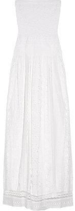 MICHAEL Michael Kors Smocked cotton eyelet maxi dress