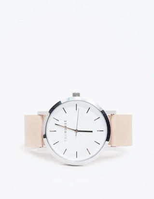 Silver/Natural Band Watch $119 thestylecure.com
