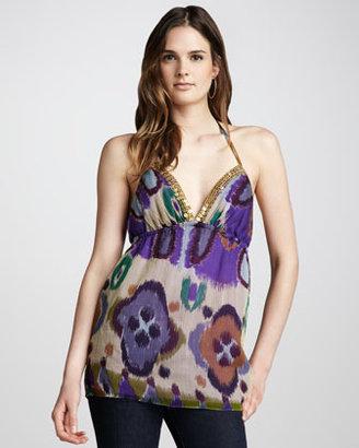 Single Dress Single Francesca Printed Halter Top