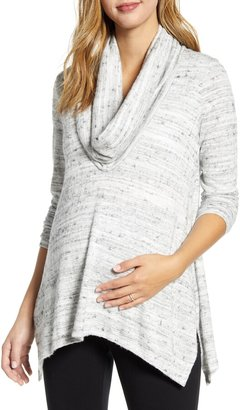 Maternal America Cowl Neck Maternity/Nursing Top