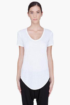 HELMUT White Scoopneck T-Shirt