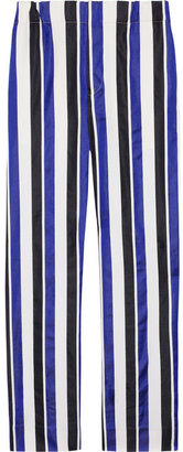 Marni Wide-leg cotton and silk-blend pants