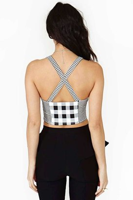 Nasty Gal Check It Out Bustier - Final Sale