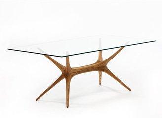 Artek X-Frame Glass Top Table