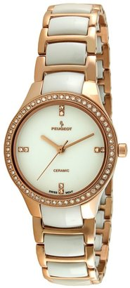 Peugeot Women's Crystal Stainless Steel & Ceramic Watch - PS4904WR