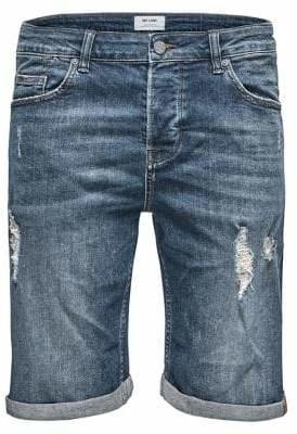 ONLY & SONS Distressed Denim Shorts